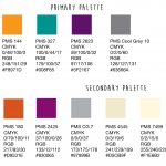 Example of colours swatches for your designer