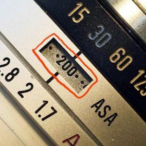 Camera settings ISO/ASA