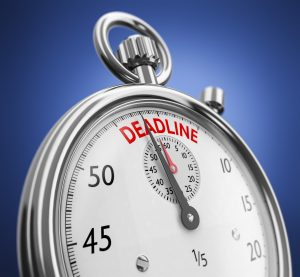Your designer needs to know your deadline