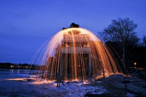 A slow shutter speed can be used to create amazing light trails