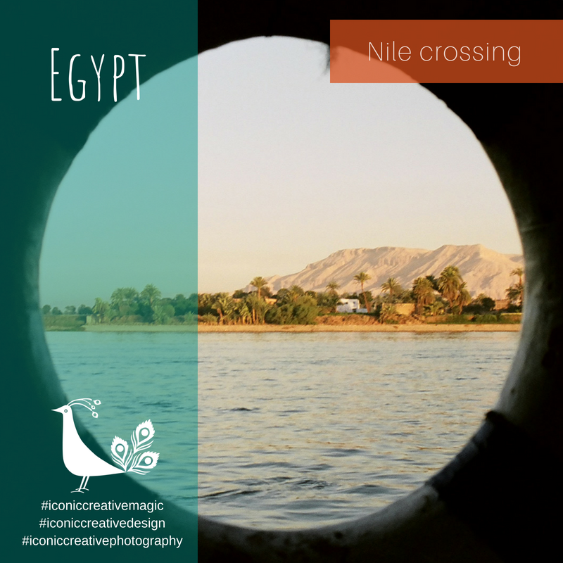 View across the Nile to Valley of the Kings, Egypt