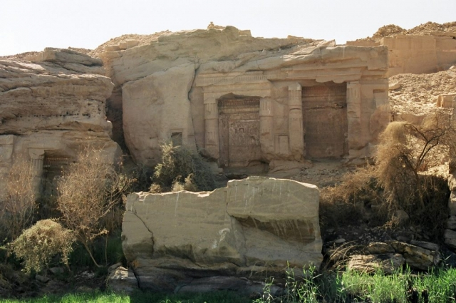 Ruins on the Nile riverbank, Egypt