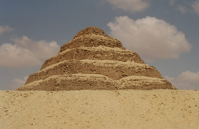 The pyramid of Saqqara, Egypt