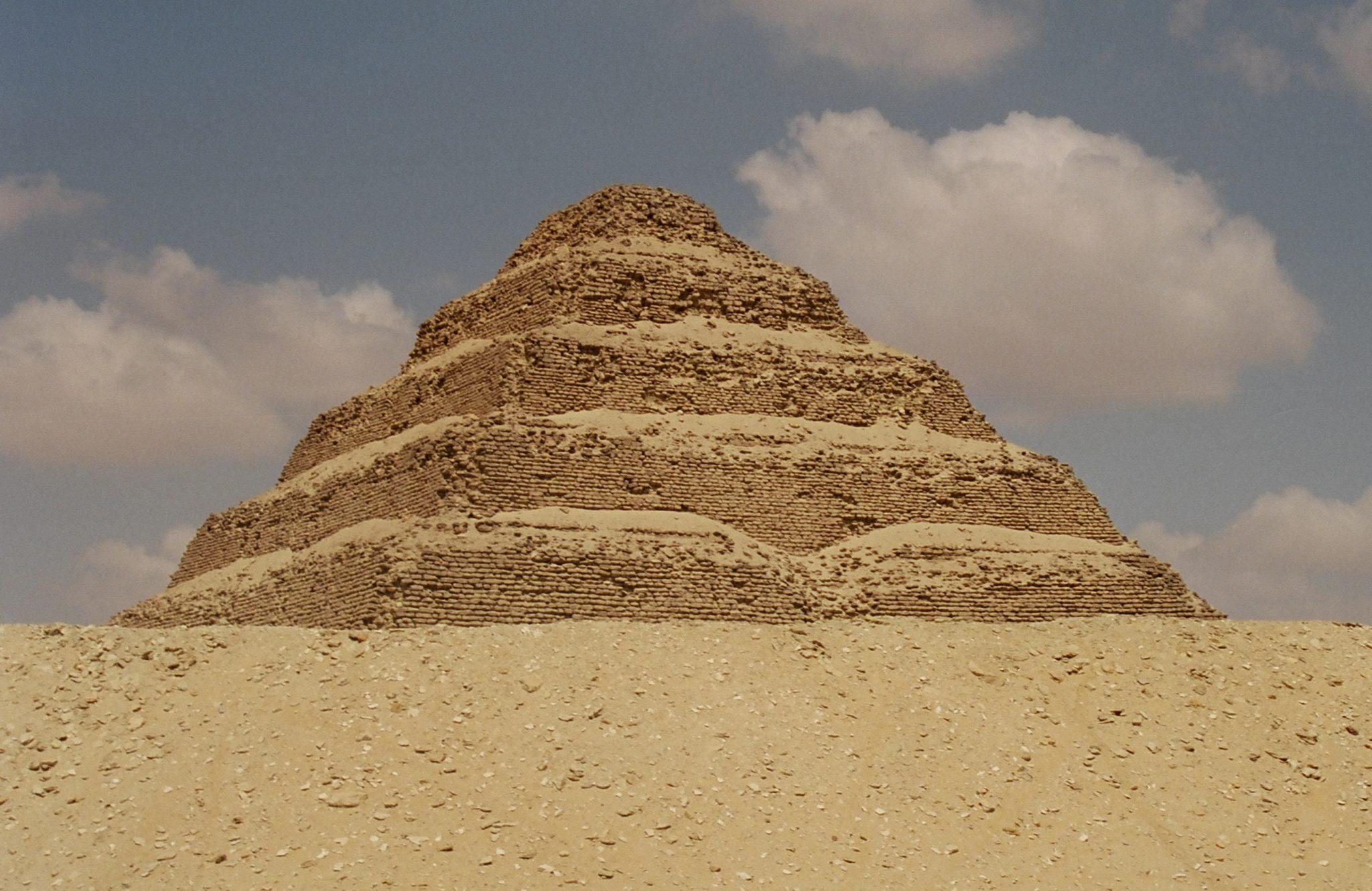 The pyramid of Saqqara, Egypt