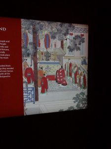 One of the exhibition panel designs at the terracotta warriors exhibition