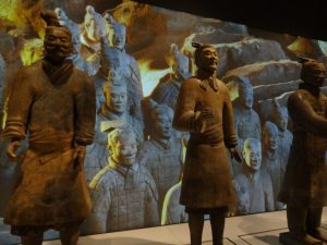 One of the real terracotta warriors