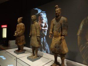 Three of the terracotta warriors