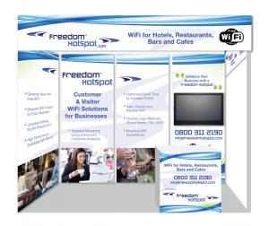 Freedom Hotspot exhibition panel design