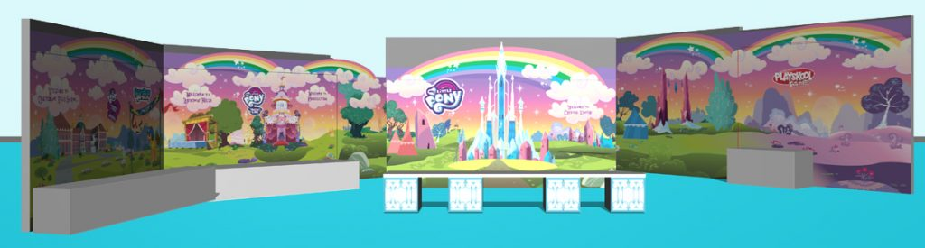 My Little Pony 15 panel exhibition panel design for a whole room