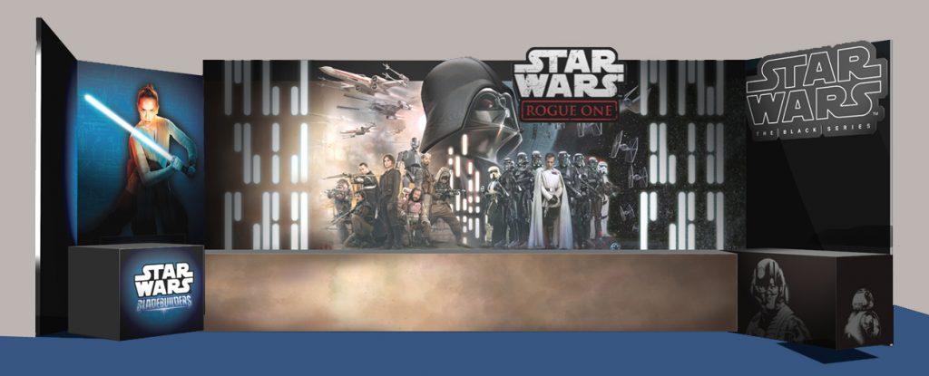 Star wars exhibition panel design