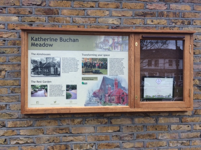 The completed Katherine Buchan Meadow panel