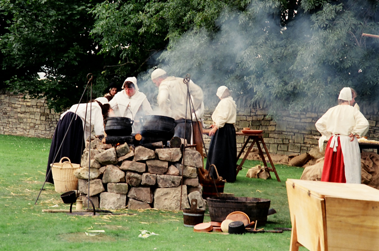 An army marches on their stomaches, feeding the hordes with an open air kitchen at Bolsover Castle