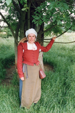 Re-enactor at Kentwell Hall